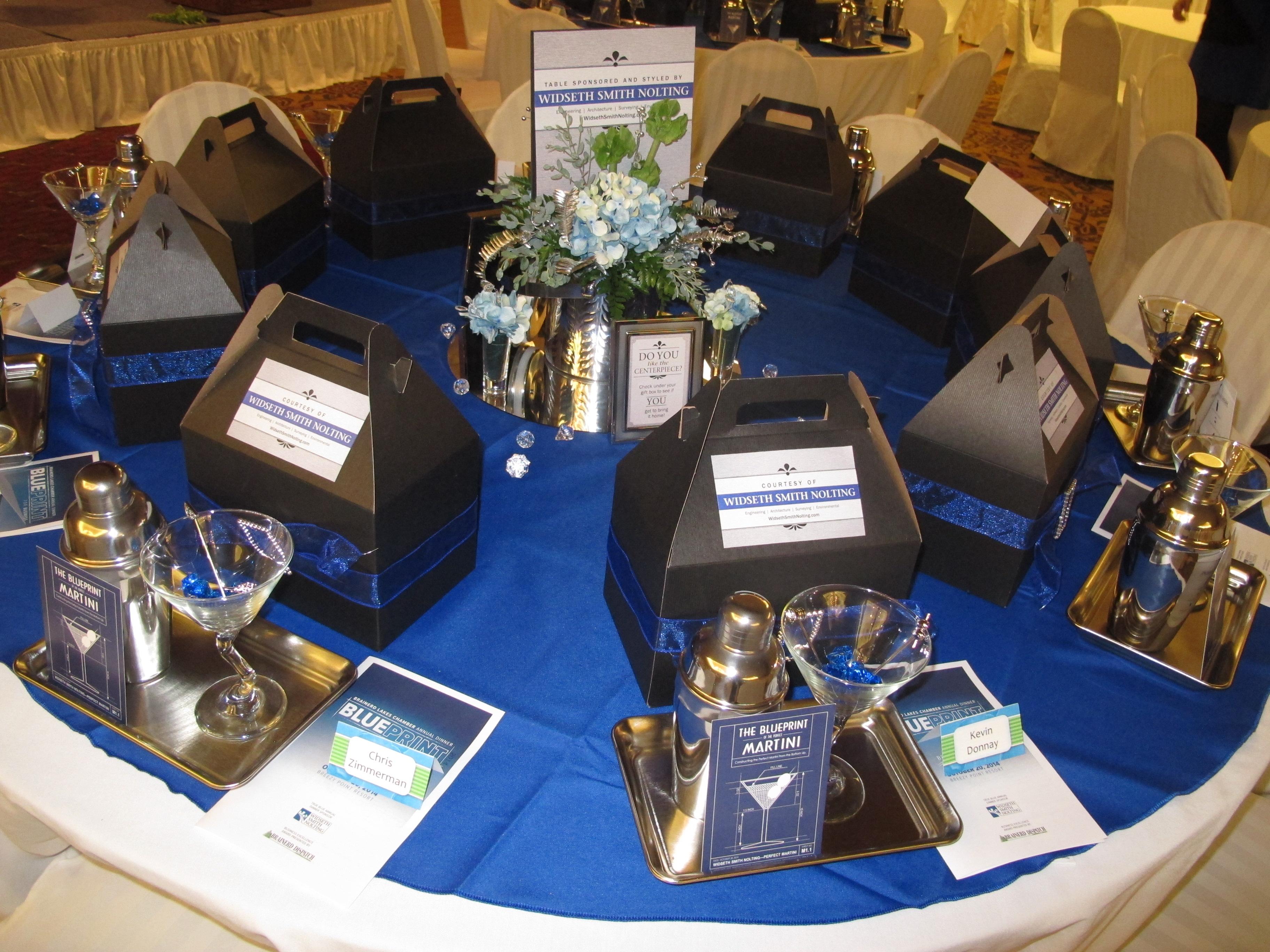 Brainerd Lakes Chamber Annual Dinner Showcase Table