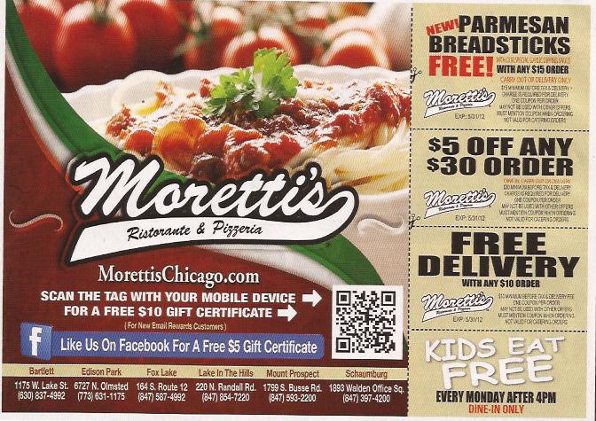 Moretti's coupons mt prospect