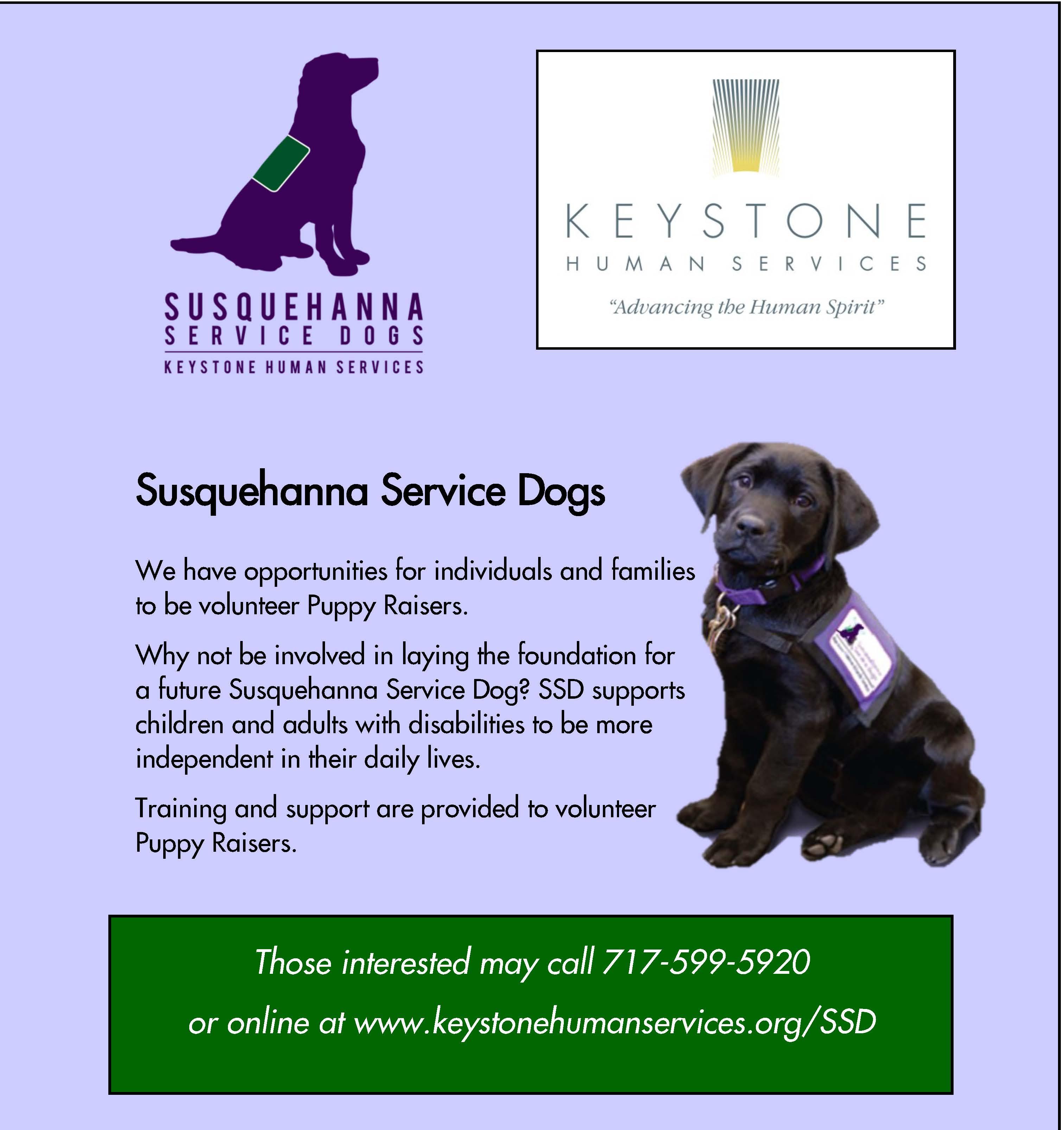 Susquehanna Service Dogs Facebook