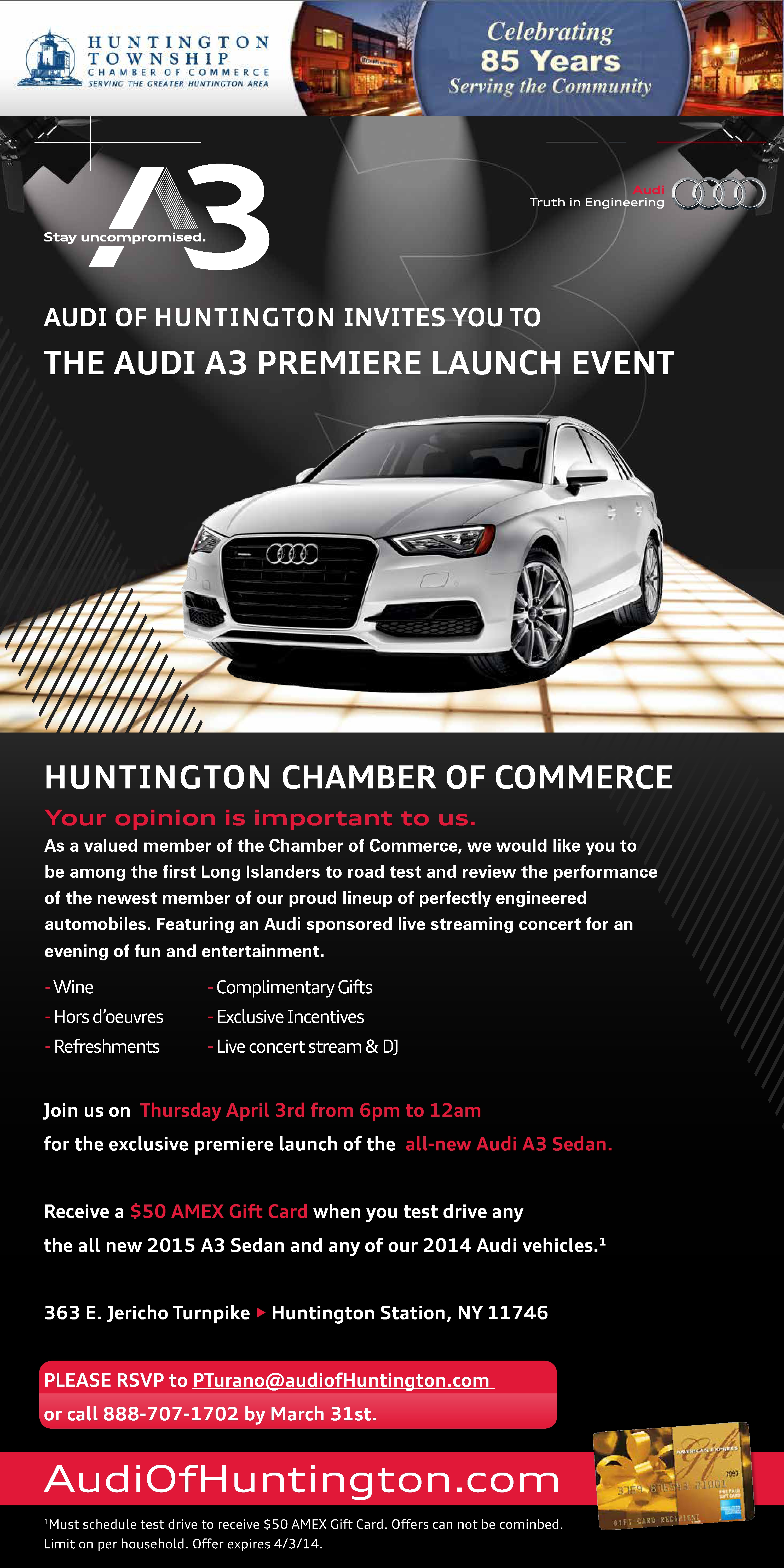 Audi Of Huntington >> Audi Of Huntington Invited You To The Audi A3 Premier Launch