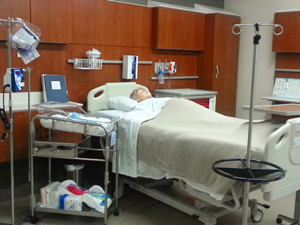 JA Nursing Lab �?�¢�¢?�¬�¢?� This is one of Baker College of Jackson�?�¢�¢?�¬�¢?�¢s simulated patient rooms where students in the new BSN will be able to hone their skills.