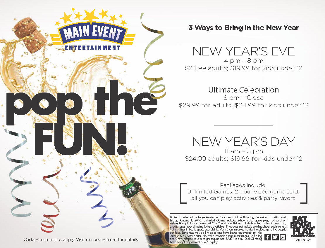 Main Event New Year's Eve Party - Dec 31, 2015 ...