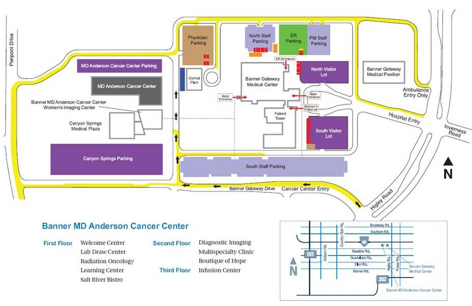 Map Of Banner Hospital Locations Pictures To Pin On