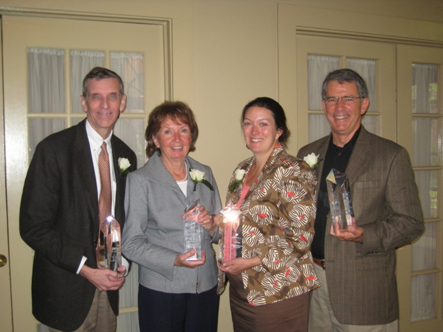 Last year's award recipients from left to right: Kevin Bell, Lincoln Park Zoo; Alderman Vi Daly, 43rd Ward; Elizabeth Rossdeutscher, BankFinancial, F.S.B.; Jim Kelly, Real Leaders Lead Business Coaching,