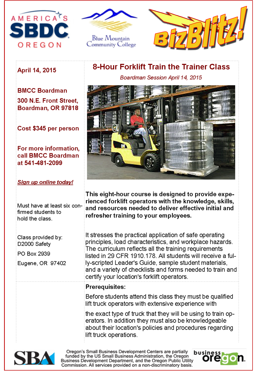 how to become a forklift instructor ontario