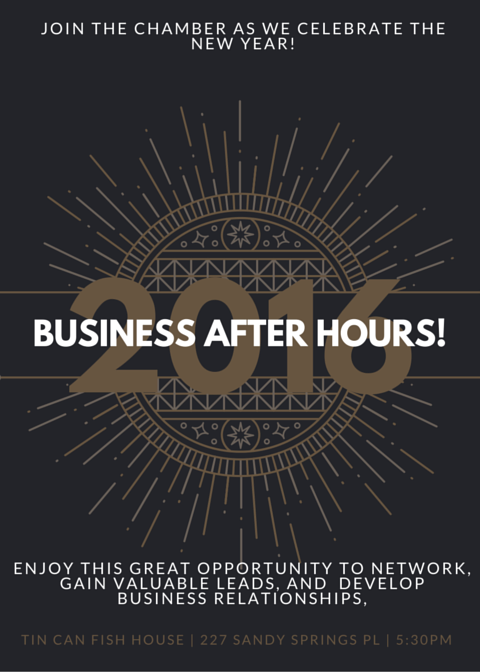 Business after hours tin can fish house jan 5 2016 for Tin can fish house