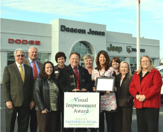Deacon Jones Smithfield >> Chamber Recognizes Deacon Jones Auto Park With Visual Improvement