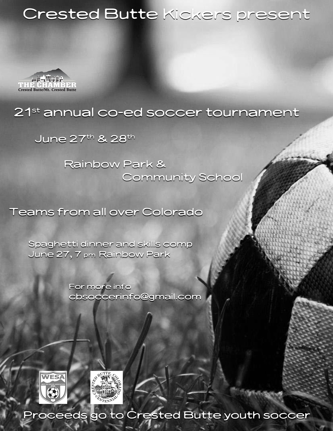 See The Attached Poster For More Details CB Kickers Soccer Tournament