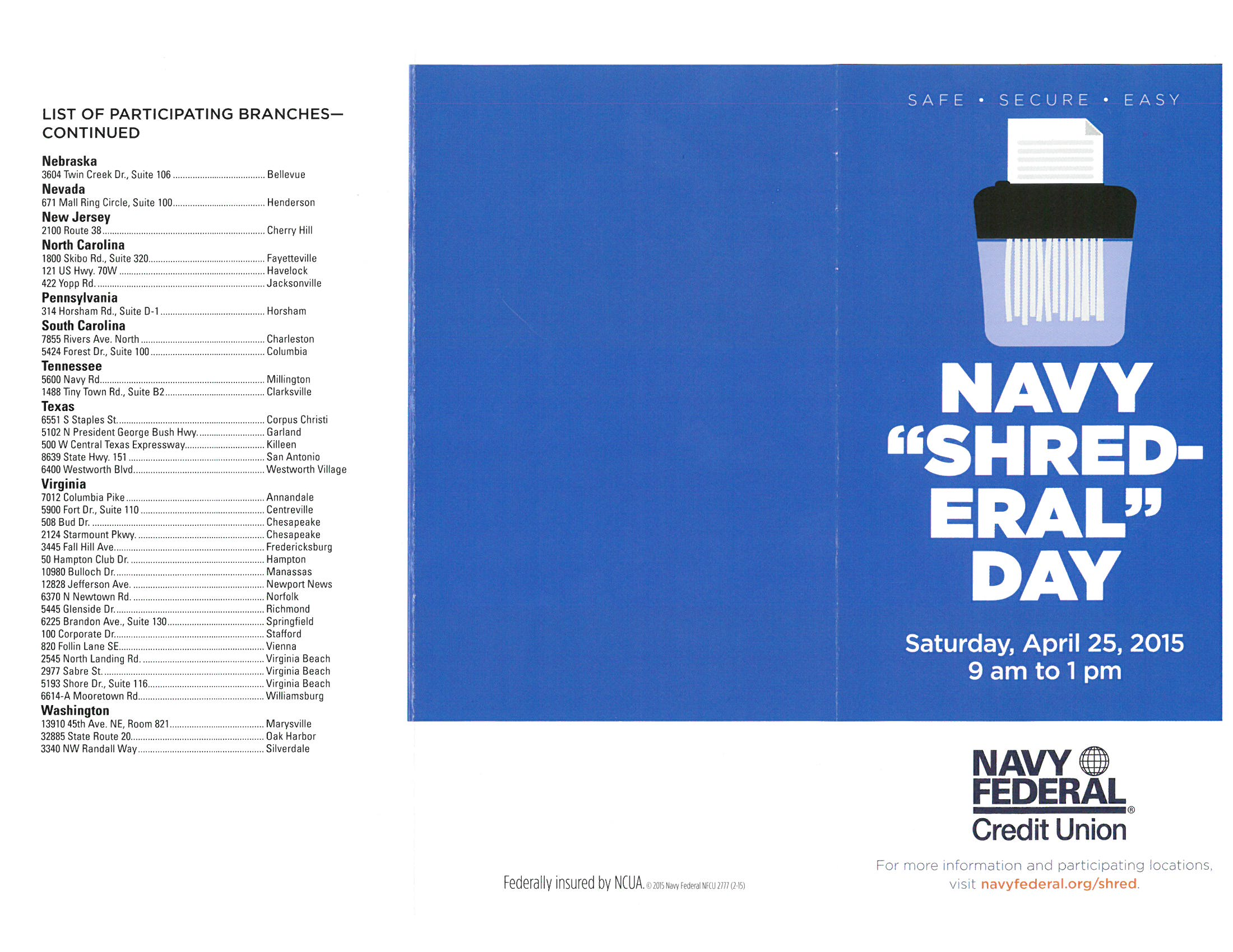 """Navy """"Shred-eral"""" Day - Apr 25, 2015"""